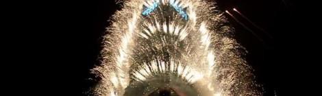 ¡Feliz año 2012!: Los fuegos artificiales de Taipei 101